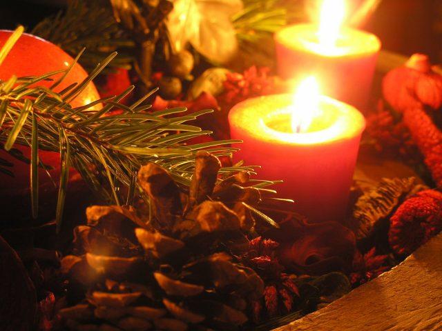 božič, adventni venec